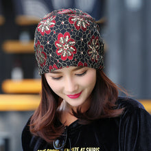 Load image into Gallery viewer, Women's Multi-Designed Flower Beanie