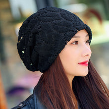 Load image into Gallery viewer, Women's Multi-Colored Letter Wool Beanie