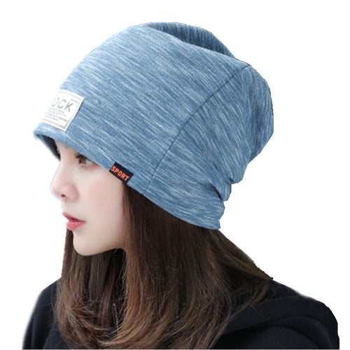 Unisex Cotton Multi-Colored Beanie