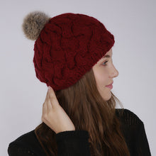 Load image into Gallery viewer, Women's Rabbit Fur Multi-Variation Beanie
