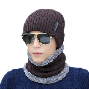 Men's Multi-Colored Beanies and Scarf Optional