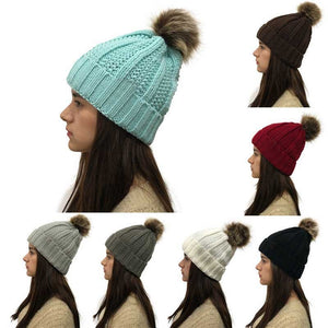 Women's Faux Fur Multi-Variation Beanie