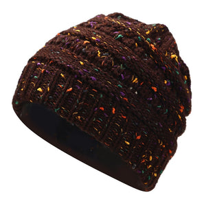 Women's Wool Multi-Variation Ponytail Beanie