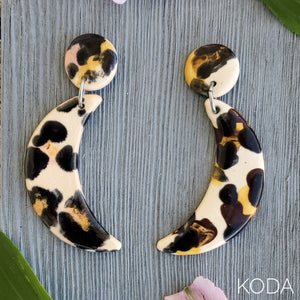 Leopard Print Dannette Earrings