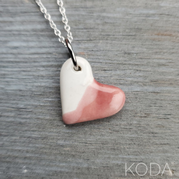 Spectrum Heart Necklace - Cherry Blossom