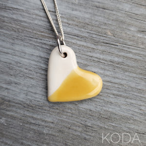 Spectrum Heart Necklace - Marigold