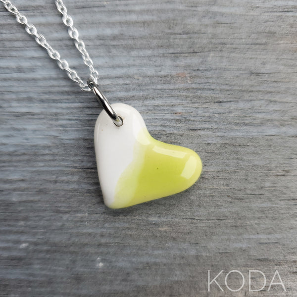 Spectrum Heart Necklace - Pear