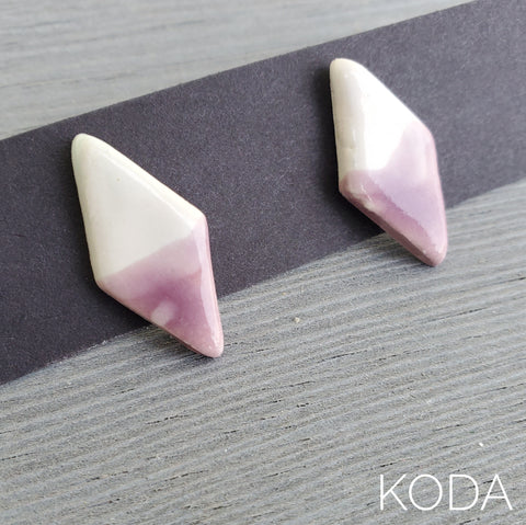 Spectrum Diamond Earrings - Lavender