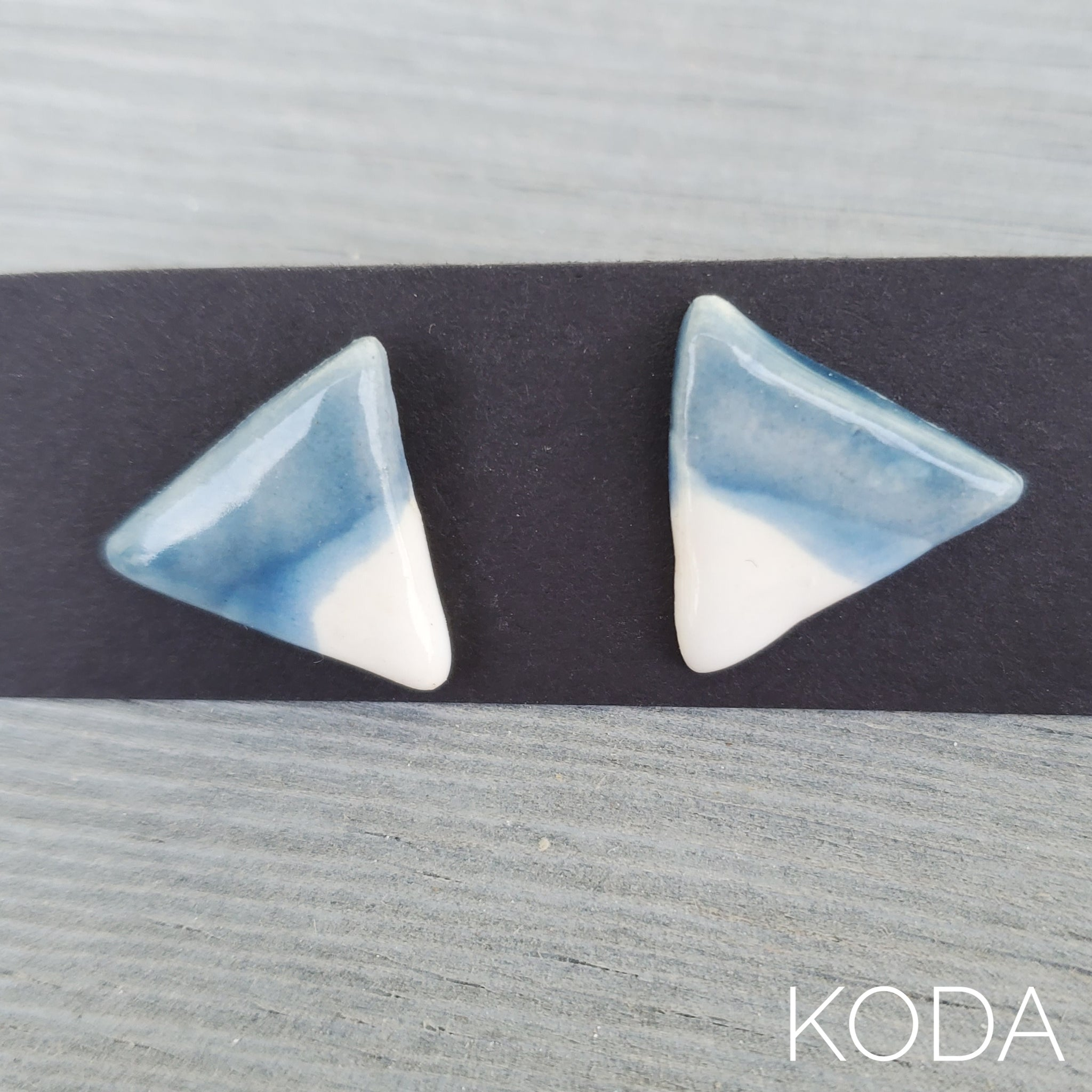 Spectrum Triangle Earrings - Sky