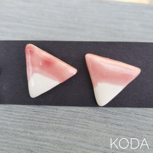 Spectrum Triangle Earrings - Weeping Plum