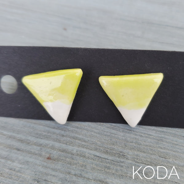Spectrum Triangle Earrings - Pear