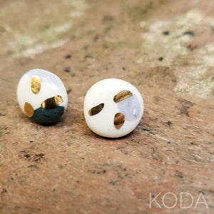Multi-Verse Button Studs with Gold  006