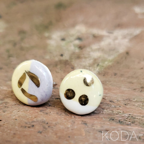 Multi-Verse Button Studs with Gold  007