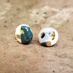 Multi-Verse Button Studs with Gold  008