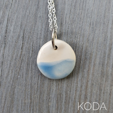 Spectrum Circle Necklace - Sky