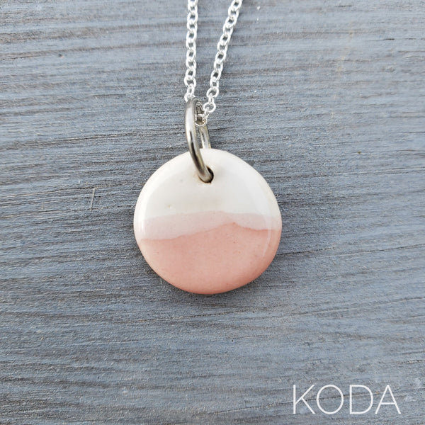 Spectrum Circle Necklace - Cherry Blossom