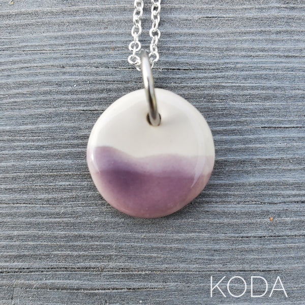 Spectrum Circle Necklace - Lavender