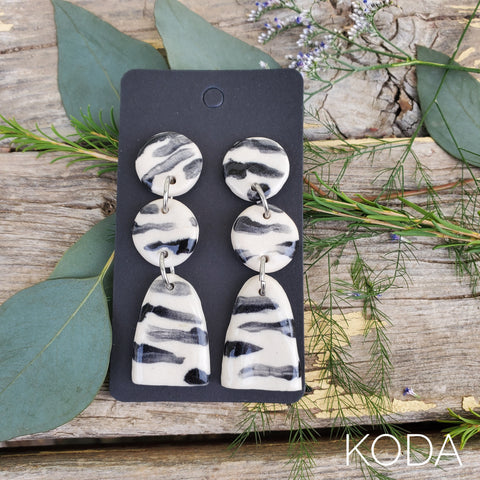 Zebra Print Charlotte Earrings