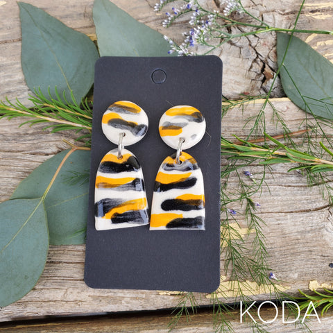 Tiger Print Lex Earrings