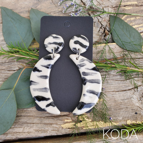 Zebra Print Dannette Earrings