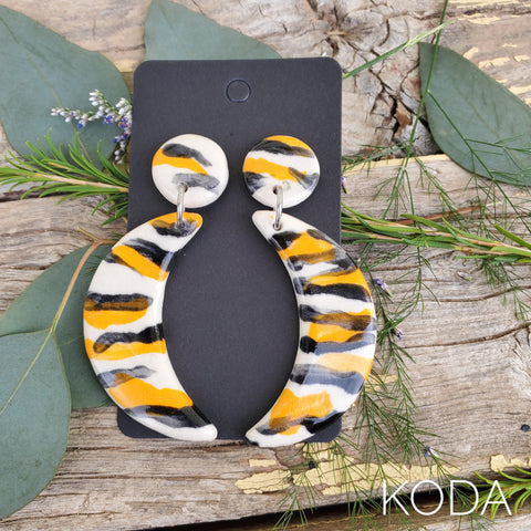 Tiger Print Dannette Earrings