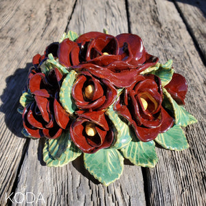 Chocolate Rose Wedding Cake Topper