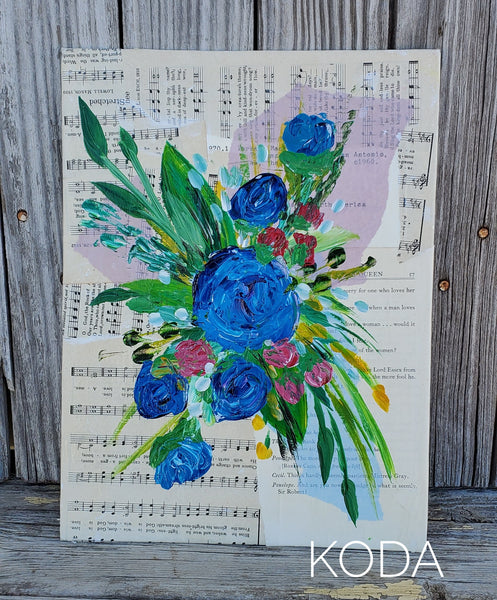Mixed Media Floral Painting 001