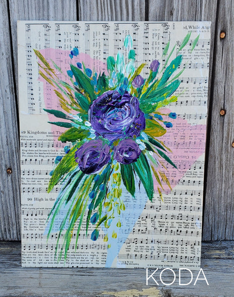 Mixed Media Floral Painting 004