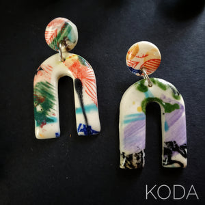 Graffiti Ryann Post Earrings 001