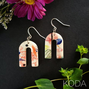 Graffiti Ryann Hook Earrings 003