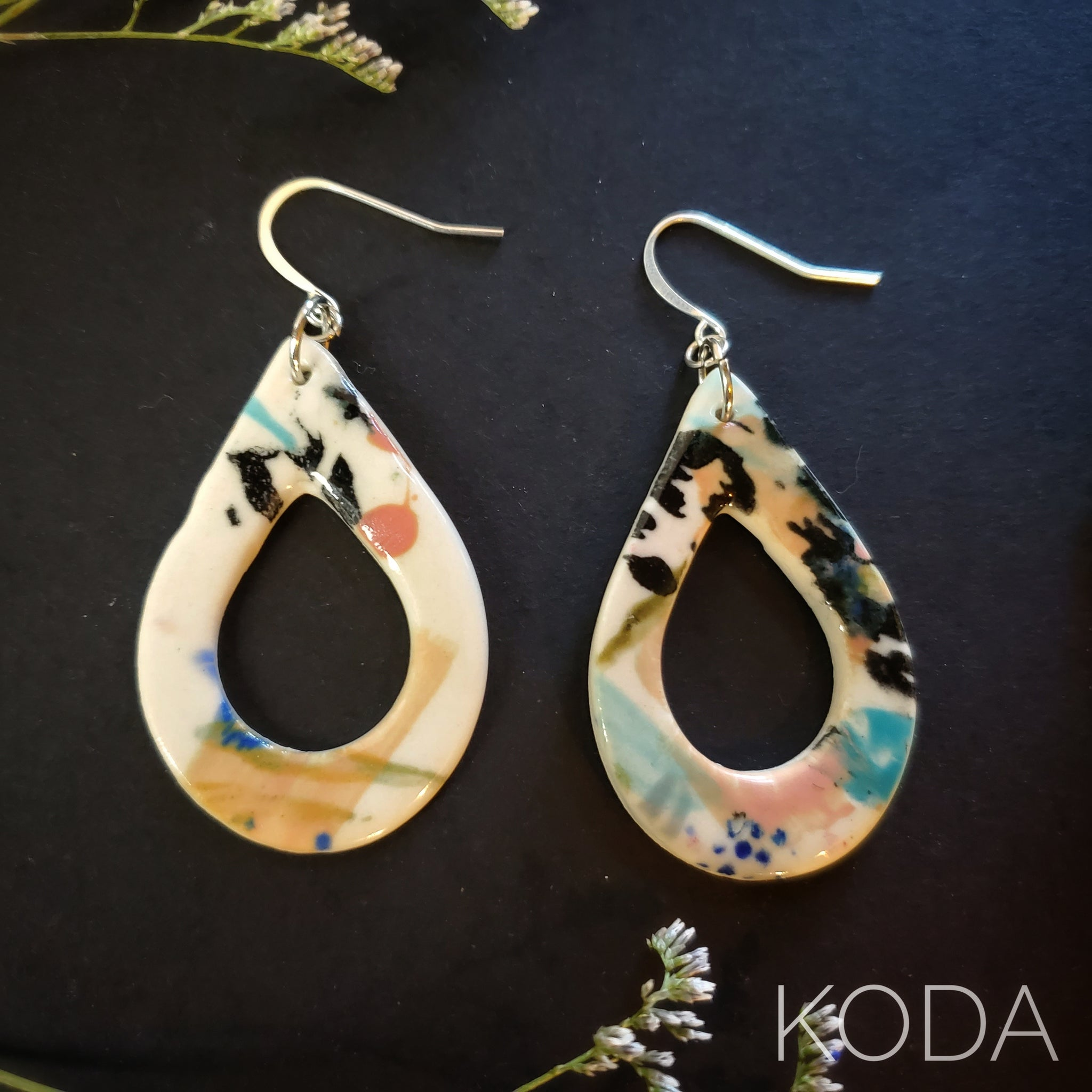Graffiti Tropical Amber Earrings 003