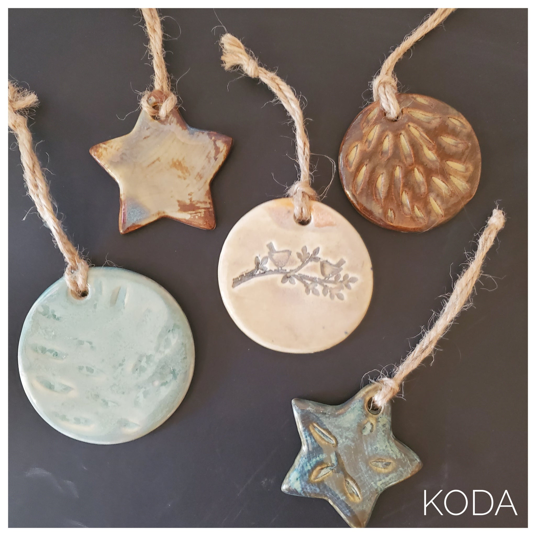 Set of 5 Holiday Ornaments 001