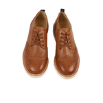 Brando Brogue Shoe Tan Burnished Leather | Teen