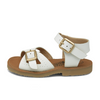 Pearl Vegan Sandal White Synthetic Leather | Teen