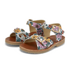 Pearl Sandal White Flora Print Leather | Teen