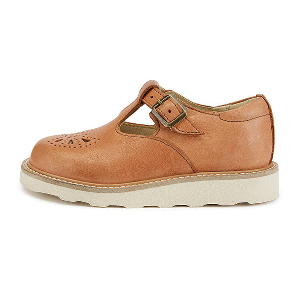 Rosie T-bar Shoe Clay Leather