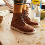 Sidney Brogue Boot Tan Burnished Leather