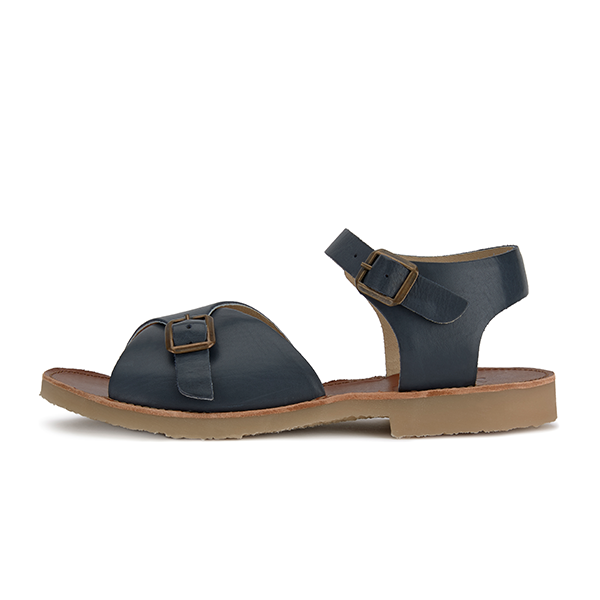 Sonny Sandal Navy Leather | Teen