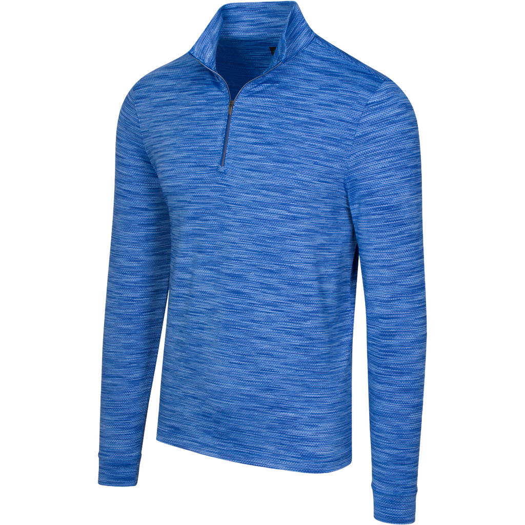 Heathered Mesh Stretch 1/4-Zip Mock