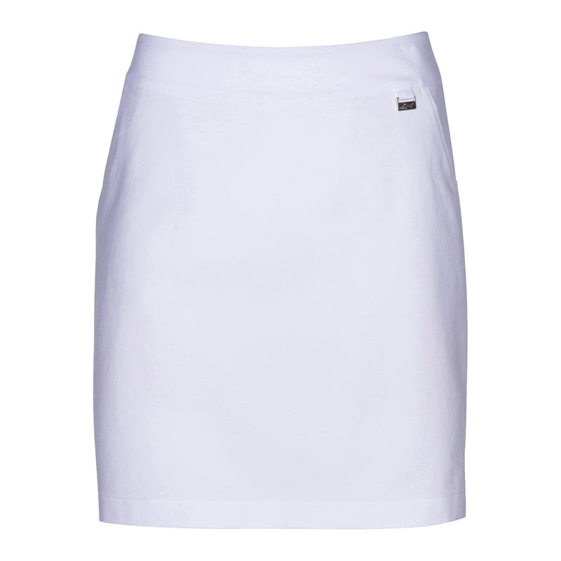 "18"" Pull On 4-Way Stretch Skort White"