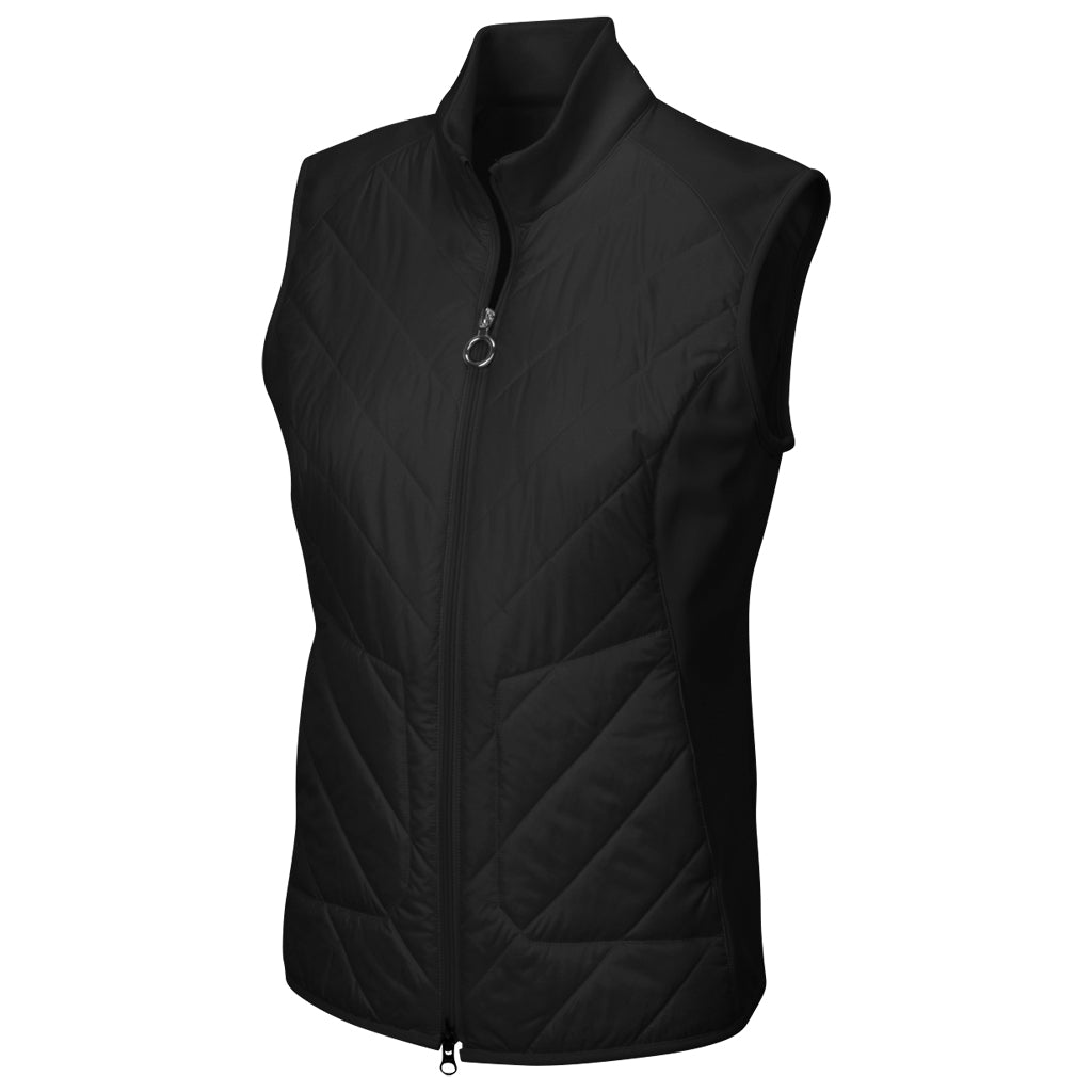 QUILTED CIRE AND SCUBA VEST