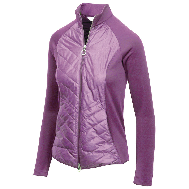 QUILTED CIRE AND SCUBA JACKET