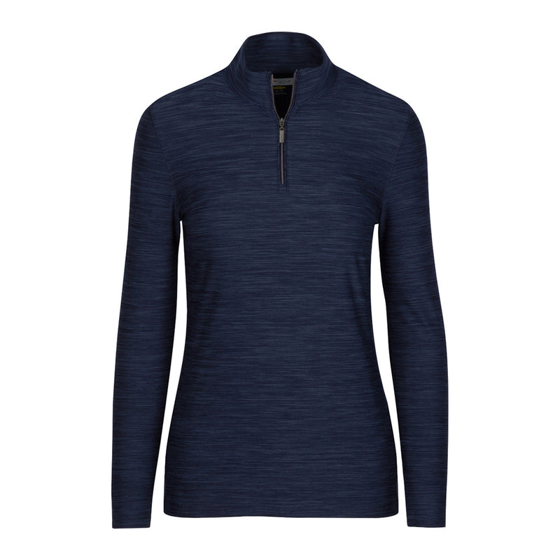 1/4 Zip Heathered Pullover Navy Heather