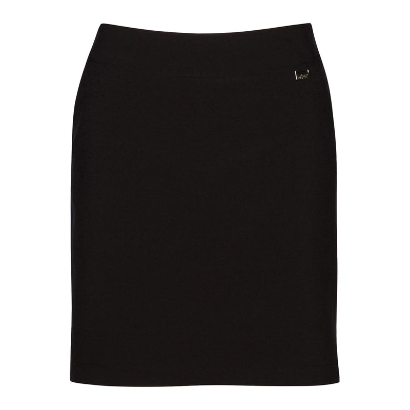 "18"" Pull On 4-Way Stretch Skort Black"