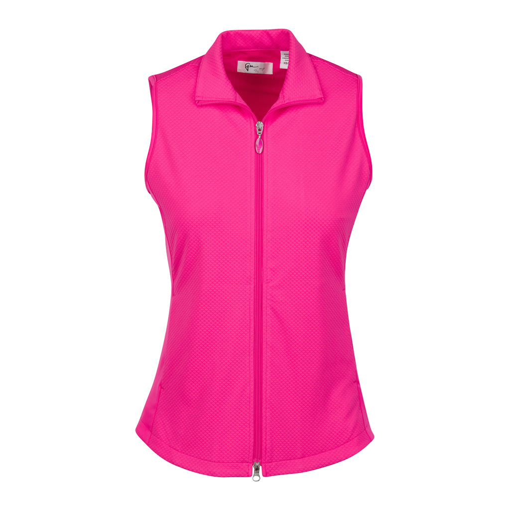 G2S8J470 Honeycomb Textured Knit Vest Pink Taffy