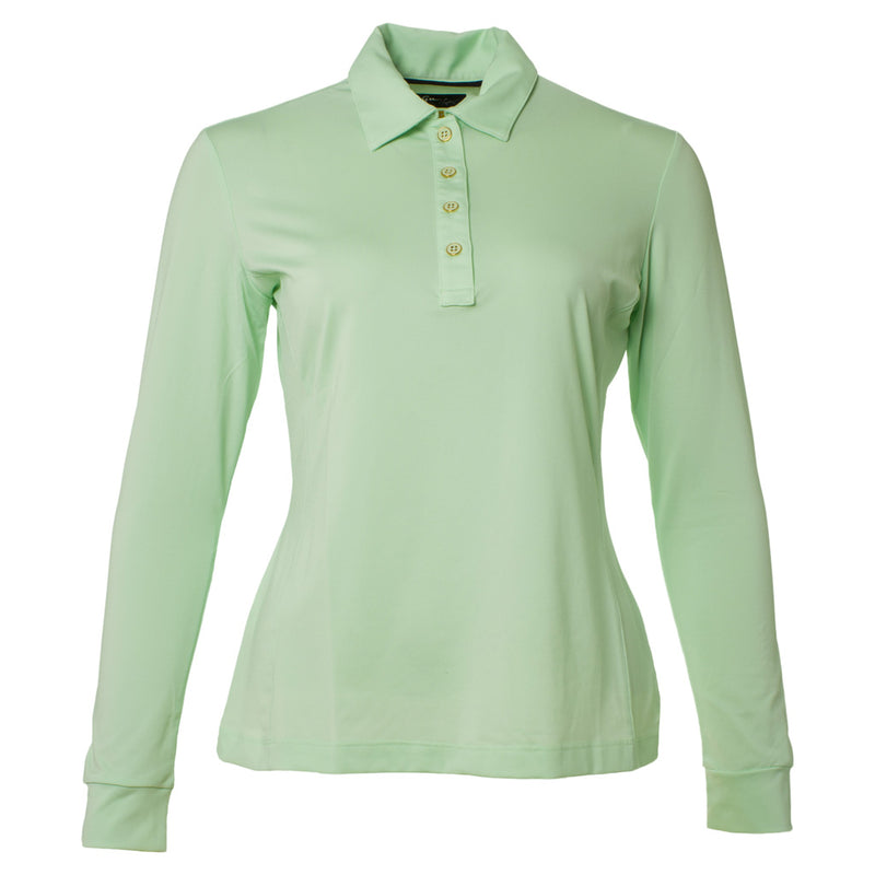 G2S4K600 Ls Uv Protection Polo New Lime
