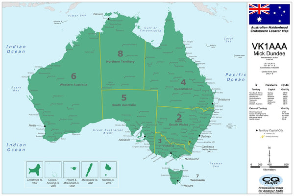 Australia Ham Radio Amateur Radio Map CQmaps