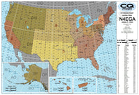 US Maidenhead Gridsquare Locator Map (24x36)