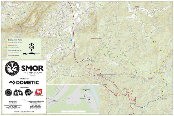 Smoky Mountain Overland Rally Map