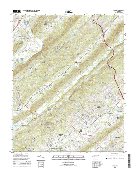 USGS 7.5 Minute Topo Quad Quadrangle Map